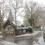 lych gate in the snow